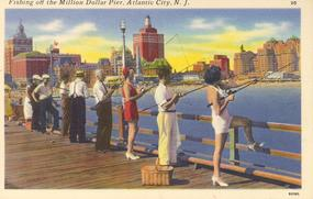 """Fishing Off The Million Dollar Pier"", Tichnor"