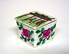 Vintage Chinese Export Porcelan Covered Salt 