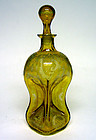 "Bohemian Amber Glass ""Pinch Bottle"" Decanter"