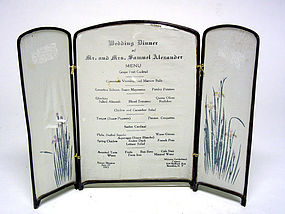 Vintage Wedding Dinner Menu, C 1915