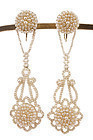 Victorian Natural Seed Pearl Chandelier Earrings