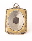 Art Deco Gold & Silver Double Photo Locket