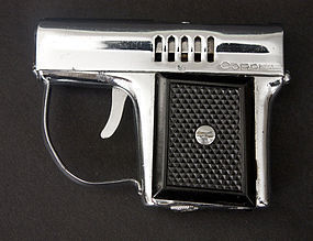 Vintage Miniature Gun CORONA Gas Lighter