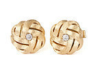 Florentine Gold and Diamond 14K Knot Cufflinks