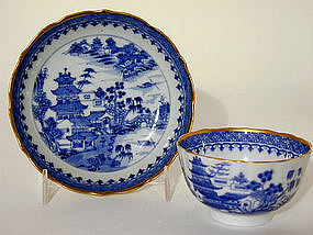 Chinese Export Canton Teabowl and 