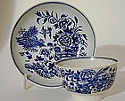 Worcester Blue and White Teabowl and 