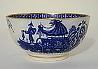 Worcester Blue and White Bowl, 18th C