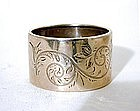 An American Victorian Sterling Napkin Ring, C 1860