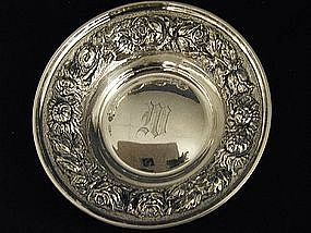 "Stieff ""rose"" Sterling Silver Bowl,c1947"