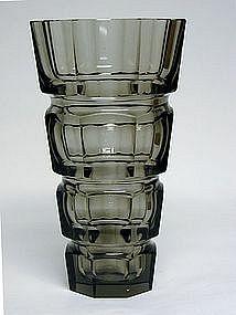 Vintage Art Deco Glass Vase Bagley/sowerby/davidson