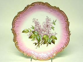 Limoges Cabinet Plate, Ca. 1890