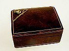 Men's Leather Cufflink Box With Jockey 