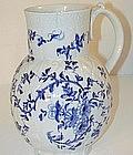 A Rare Worcester Cabbage Leaf Pattern  Jug
