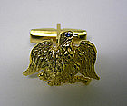 Vintage American Eagle Gold Cufflinks