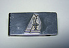 Vintage Sterling Silver America's Cup Money Clip