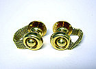 Vintage 18k Gold Mesh Cufflinks By Meister