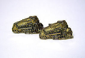 Vintage Gold Plate Alco Train-form 