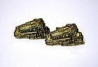Vintage Gold Plate Alco Train-form  cufflinks