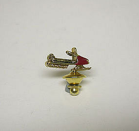Vintage Snow Mobile Tie Lapel Pin
