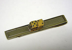 Art Deco Tie Clip With Dice