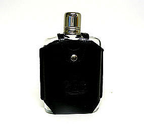 Black Leather And Stainless Steel Flask