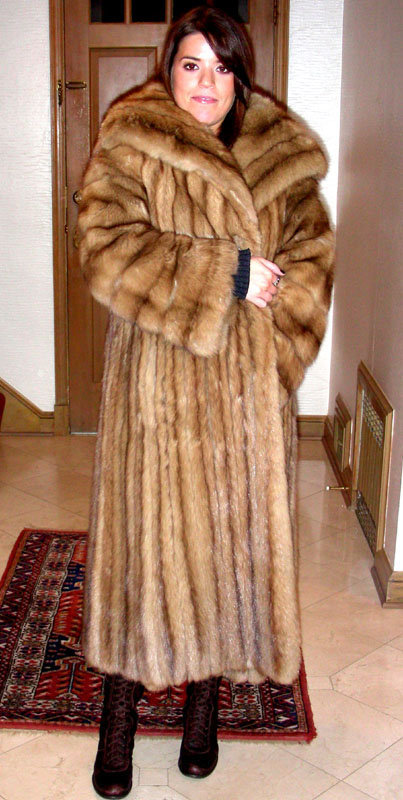 Vintage russian sable fur coat with provenance item 853510 for Stor fur gartenteich