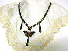 Vintage Art Nouveau Damascene Necklace