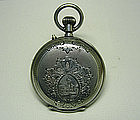 Antique Swiss Ladies Silver Pendant 