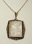 A Silver Art Deco Pendant