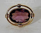 An Edwardian Amethyst Brooch