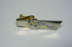 bbf4826e5db9 Vintage Gold Plated Caliper-form Tie Clip (item #943170)