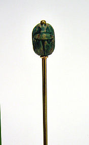 Victorian 14k Gold Scarab Stick Pin
