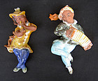 A pair of Czech Ditmar Urbach wall pieces, musicians