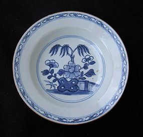 Small blue and white dish or bowl