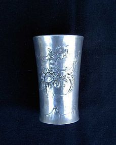 German Kayserzinn pewter vase