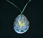 Vintage: 1950�s ceramic pendant, signed Vallauris