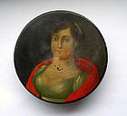Antique German papier maché snuff box