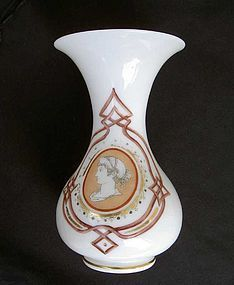 "French Opaline vase with ""Etruscan"" decoration, c 1880"