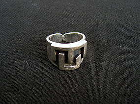 Sterling ring by Antonio Belgiorno, Argentina, c 1940's