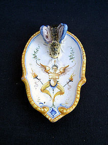 Antique Majolica, faience by Cantagalli, Italy
