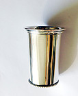 Dutch Déco sterling silver beaker or vase
