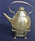 Jugendstil brass teapot, Germany c 1910