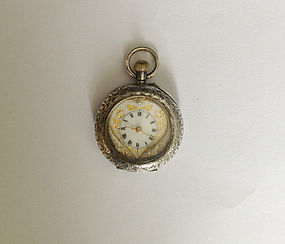 Swiss ladies watch, sterling, antique