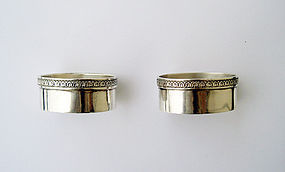 Pair of Scandinavian silver salts