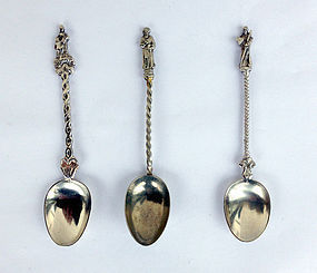 Dutch silver spoons, 19th century