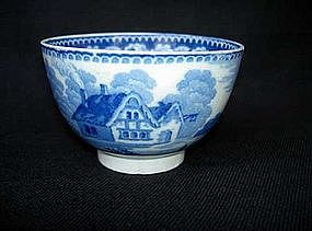 English blue and white tea bowl