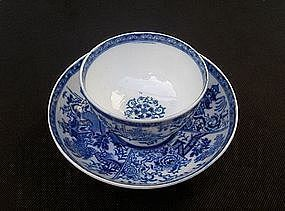 Caughley cup and saucer