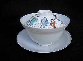 Eggshell porcelain ensemble