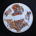 Miniature Japanese eggshell saucer