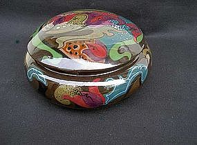 Dutch Gouda lidded bowl